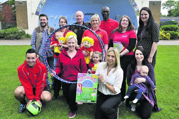 Wiltshire Times: Promoting the Sport and Play festival in the park