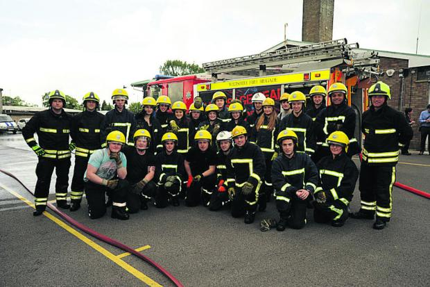 Wiltshire College students at Trowbridge Fire Station