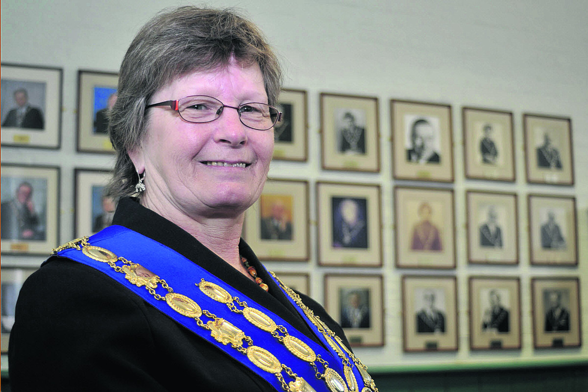 Westbury's new mayor Cllr Christine Mitchell Photo: Glenn Phillips (4095)