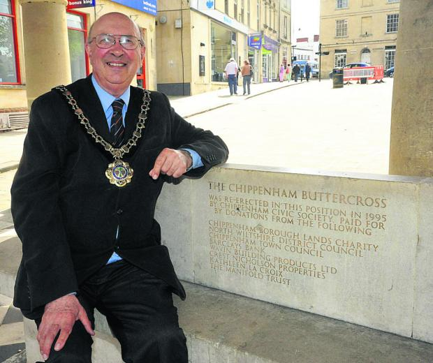 Chippenham's new mayor John Scragg was arrested by Russian police