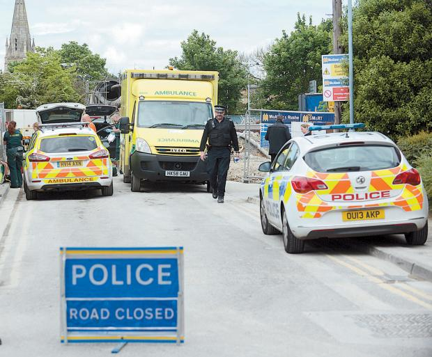 Wiltshire Times: The scene at Maidenhead after the death of Westbury man Benjamin Hugh Wylie. Picture by Baylis Media Ltd
