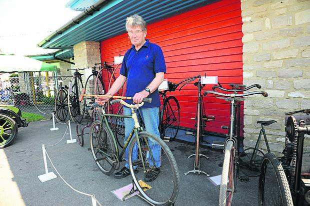 Brian Mortimer with some of his vintage bicycles