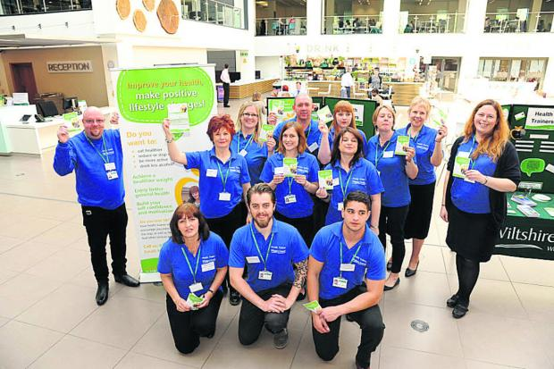 Senior health trainer Dave Payne, left, with his team at the launch at County Hall