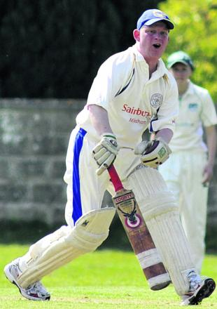 Beanacre & Melksham 2nd batsman Clive Bailey watches as he's caught during his side's 54-run win over Seagry in Division Three on Saturday