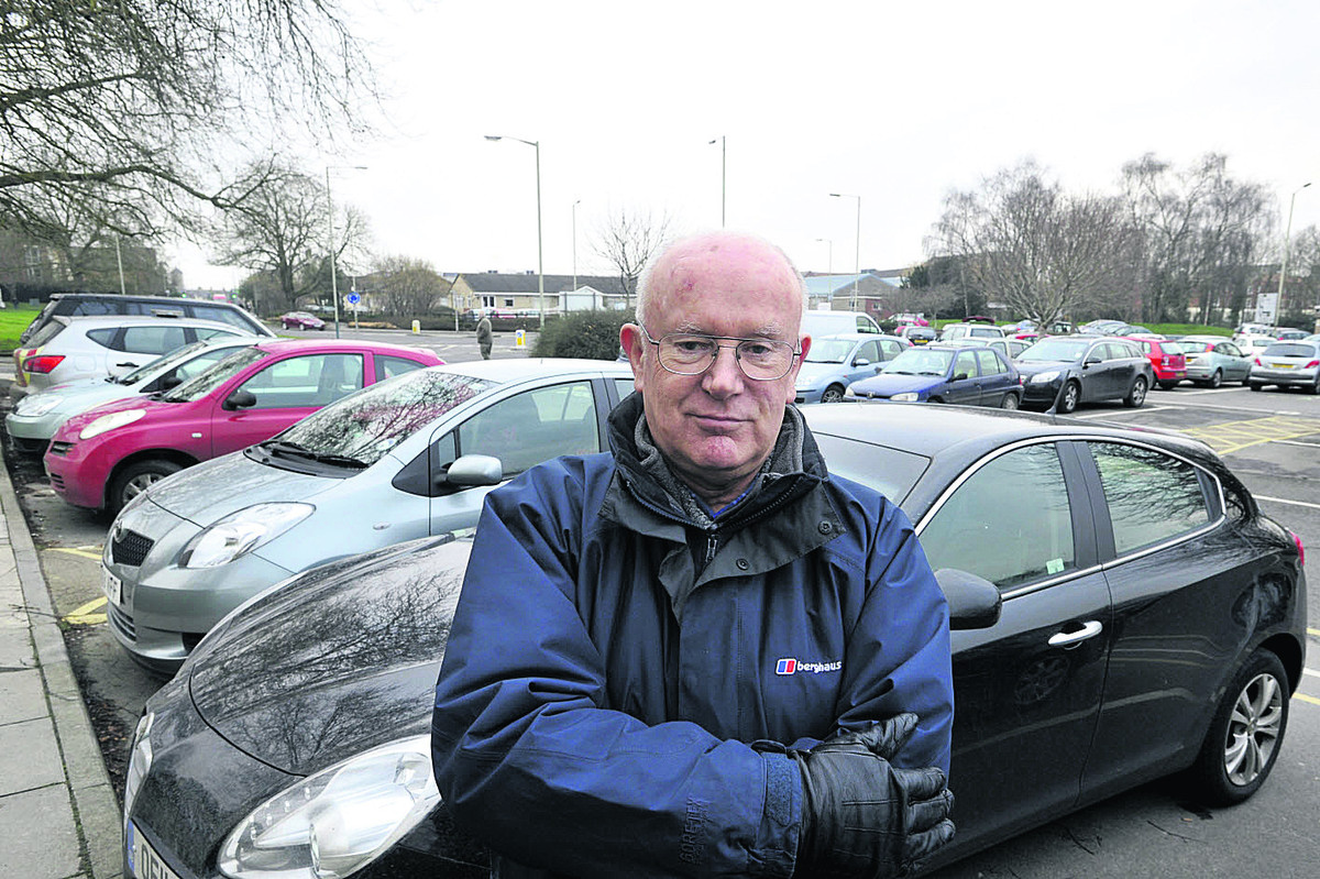 Car parking campaigner John Fairbrother in the County Hall car park