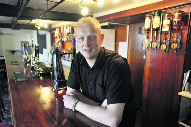 Wiltshire Times: Daniel Grace, landlord of The Unicorn pub in Melksham