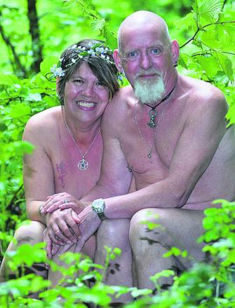 Helen Mills and John Dobson at Pines Naturist Club. Picture by Gloucester Citizen