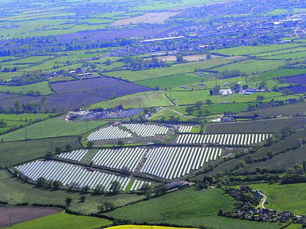 John Phillips' view of the solar panels at Broughton Gifford