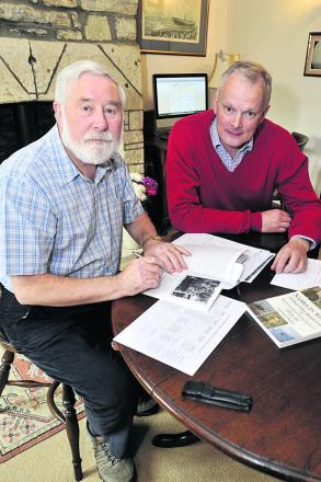 South Wraxall resident David Wyper, left, with parish