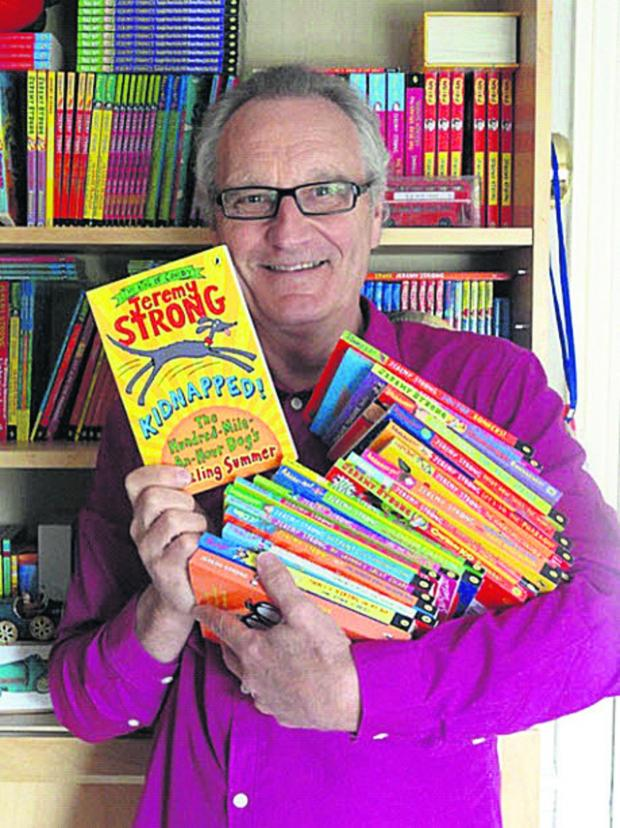 Wiltshire Times: Bradford on Avon children's author Jeremy Strong celebrates the publication of his 100th book, Kidnapped! The Hundred-Mile-An-Hour Dog's Sizzling Summer