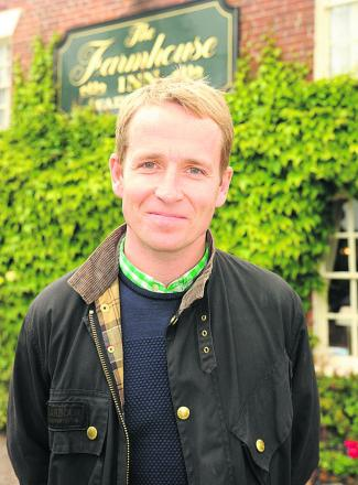 Jonnie Irwin, host of Channel Four's A Place in the Sun: Home or Away, outside the Farmhouse Inn, Southwick near Trowbridge