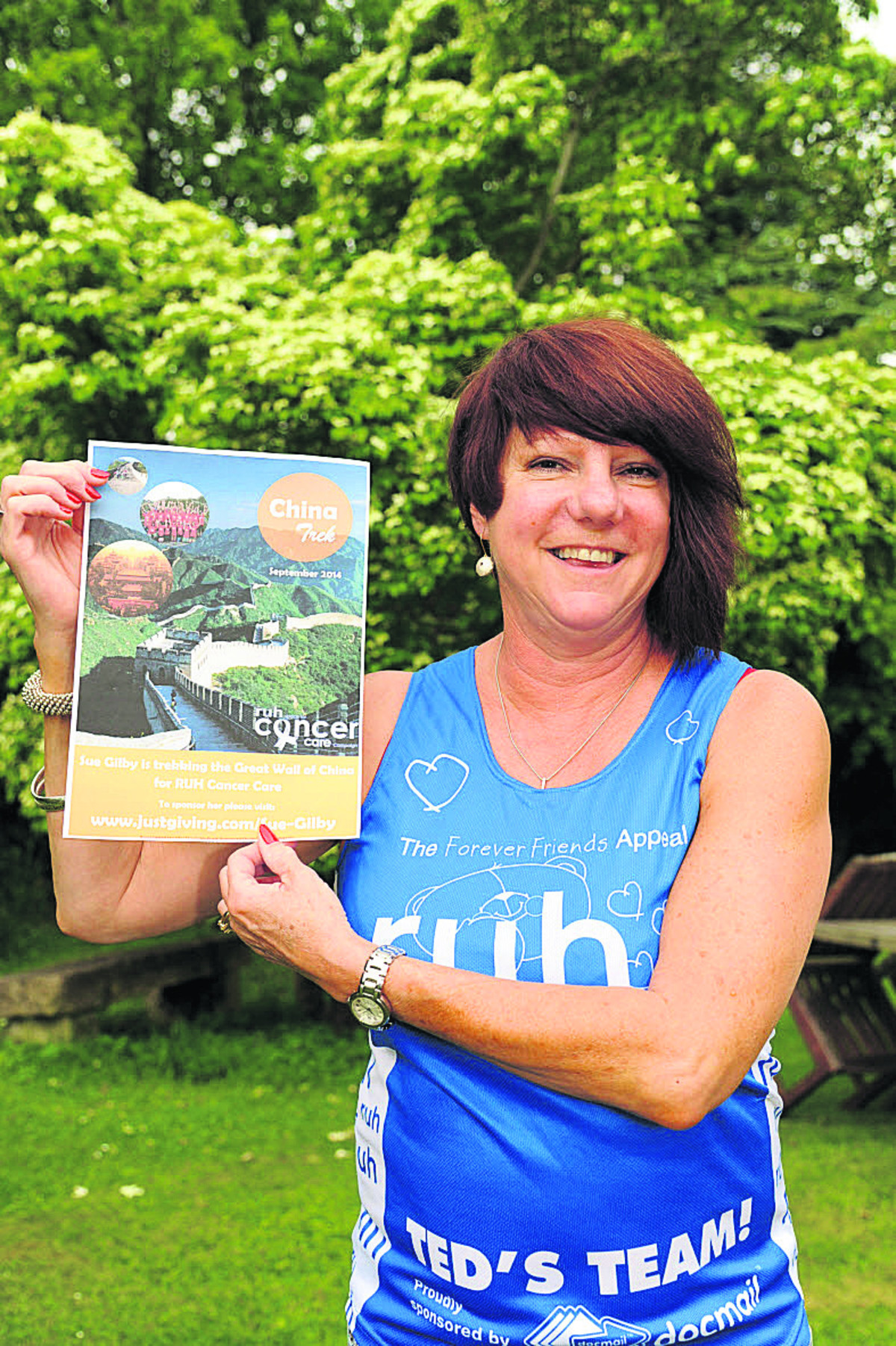 Sue Gilby will be trekking for six days over a section of the Great Wall of China