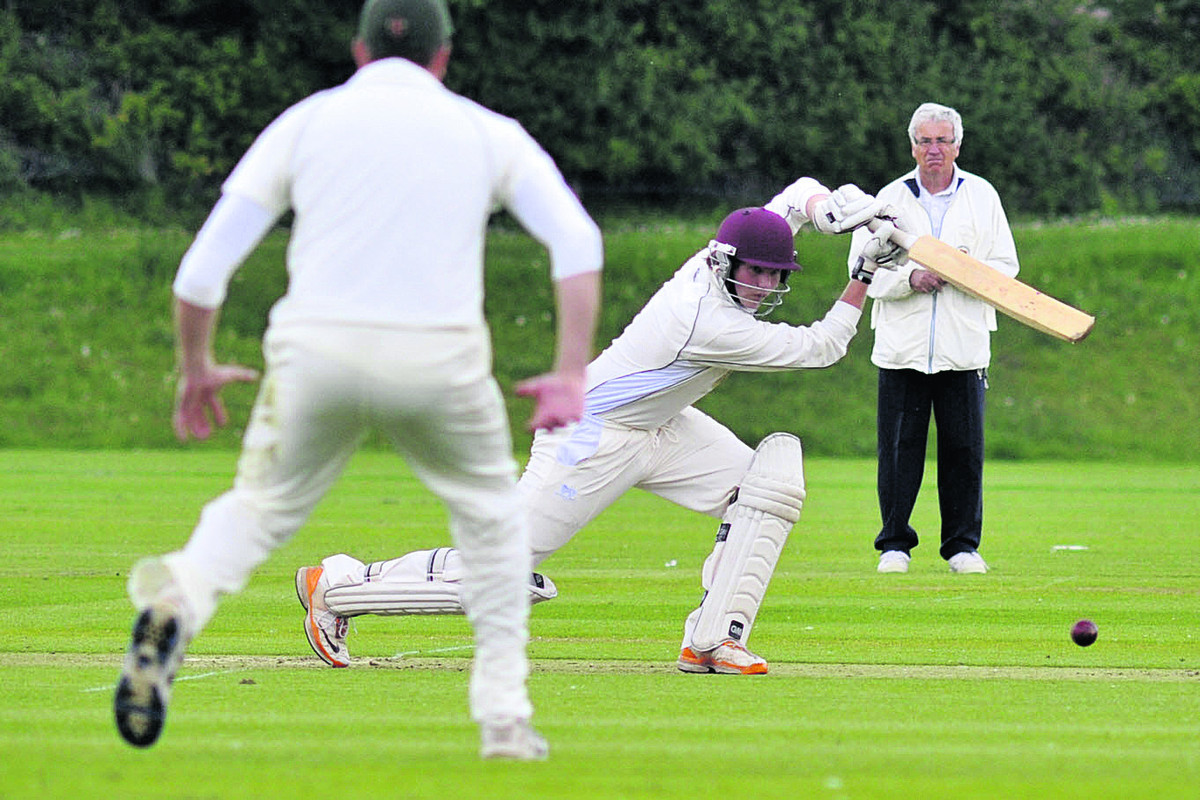 Daniel Gill batting for Westbury during their two-wicket defeat by Rockhampton on Saturday
