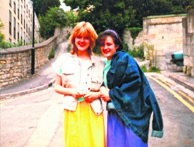 This picture issued by police shows Susie Lecomber, right, now aged 47, with best friend Melanie Road in Lansdown, Bath, in 1983 - a year before 17-year-old Melanie was killed on June 9, 1984