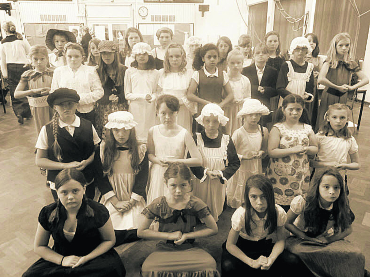 Westbury school turns back clock with Victorian day