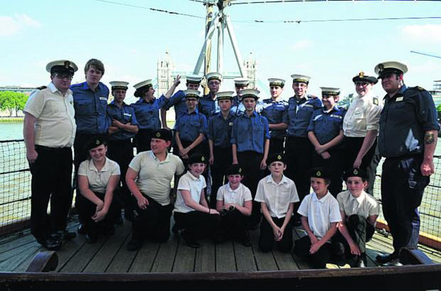 Trowbridge Sea Cadets aboard for tour of iconic D-Day vessel