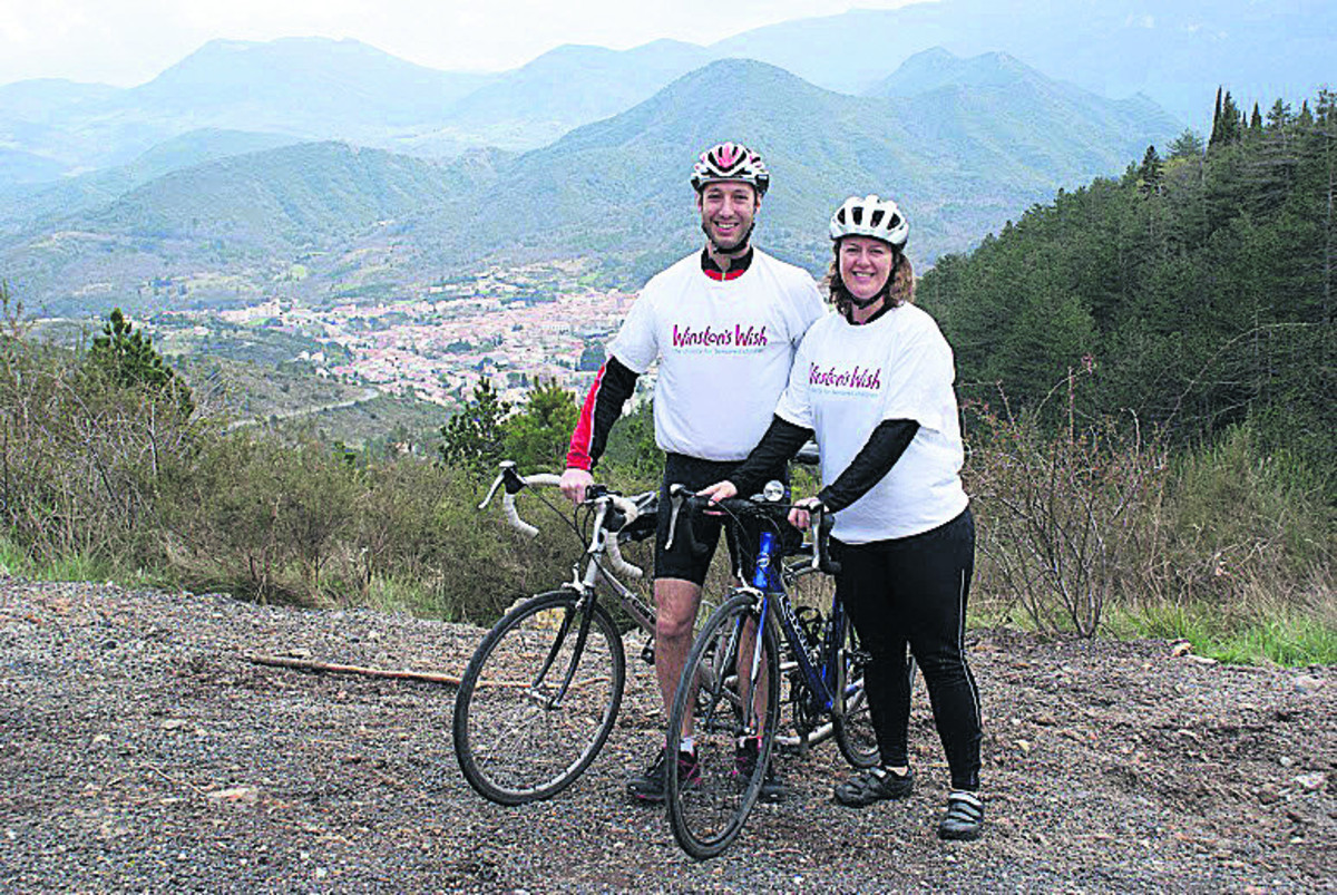 Lorna Blakeley and her husband Lawrence are part of a team set to take on a charity  cycling challenge crossing the Pyrenees in memory of her late b