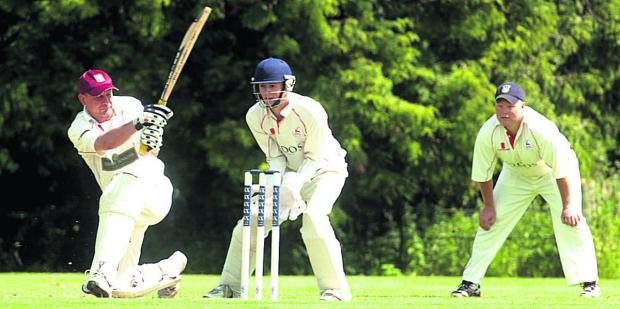 Wiltshire Times: Bradford on Avon's Nick Gerrish is trapped leg before by Urchfont bowler Keith Bills during his side's defeat in Division One on Saturday