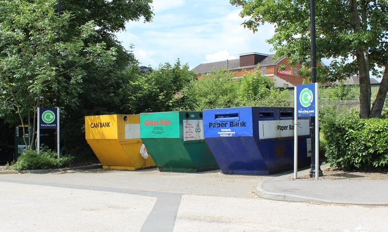 The mini-recycling site at The Pippin, Calne