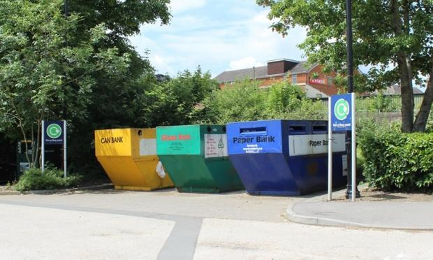 Wiltshire Times: The mini-recycling site at The Pippin, Calne