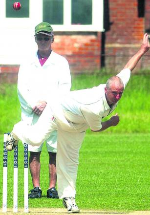 All Cannings' Graham Mansell bowls during his side's 46-run defeat to Spye Park in Division Two on Saturday Pictures by Paul Morris (PM1302)