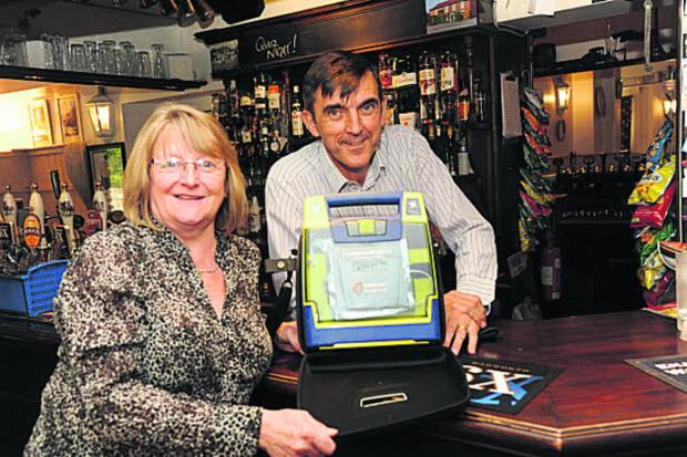 Round of applause for Southwick inn's defibrillator