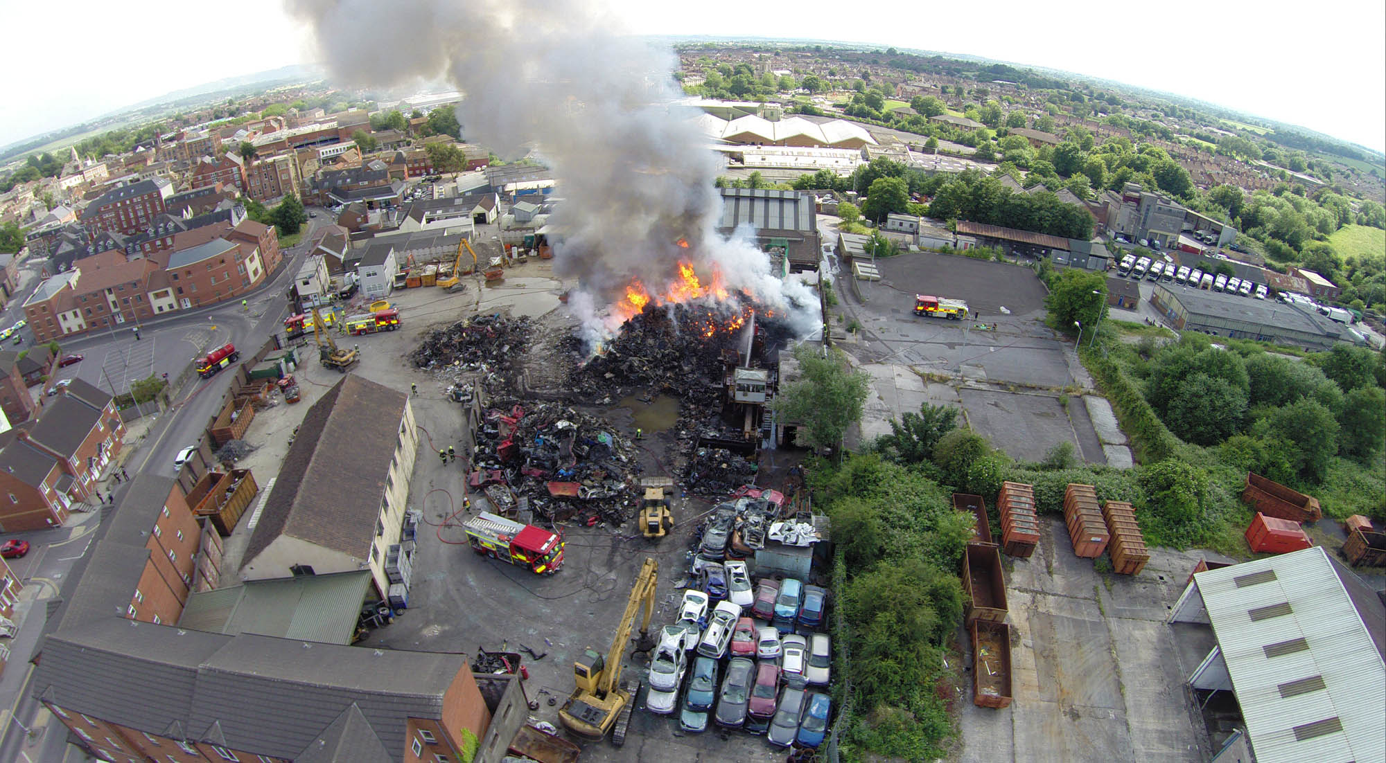 A picture of EJ Shanley's site taken by Graham Risdon, of www.mediainventions.com, using a quadcopter on Saturday