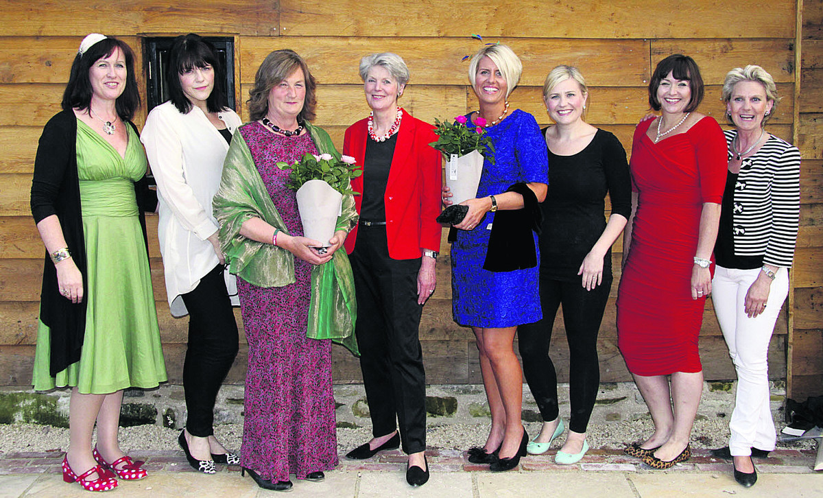 From left are Rosie Eliot , Kirstie Lance, Caroline Wheatley-Hubbard, Liz Prest, Steph Nielson-Hunt, Anna Prince, Tori Allison, a community fundraiser for MS Therapy Centre, and Tori Downs, manager of The Dressing Room and event organiser