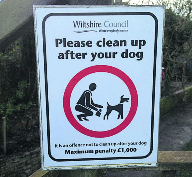 Last year Wiltshire Council only issued two fixed penalty notices for dog fouling, says Cllr Russell Hawker
