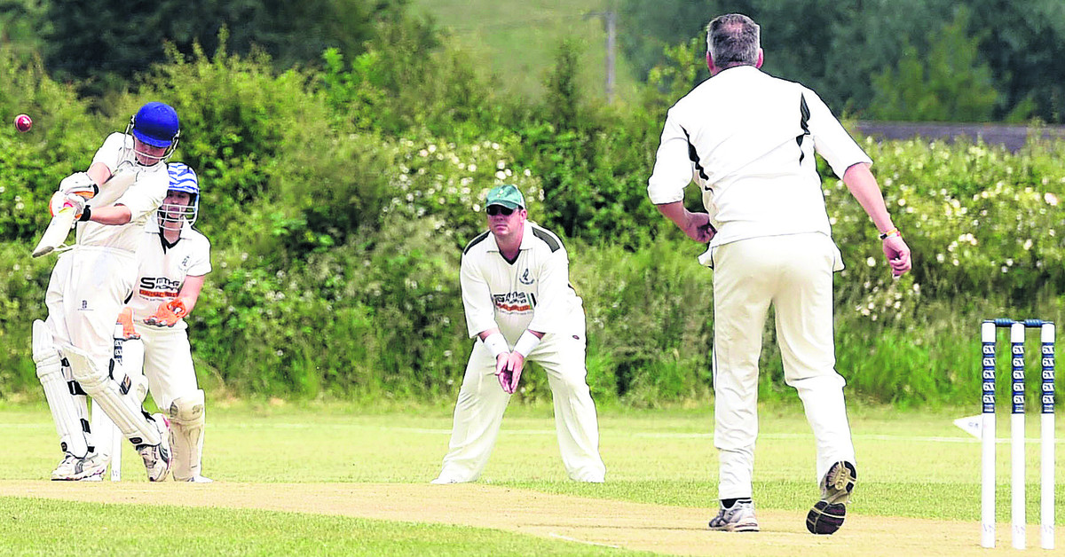 Trowbridge A's Kyle Oakley hits out during his side's eight-run victory in their Division Five clash at Cherhill