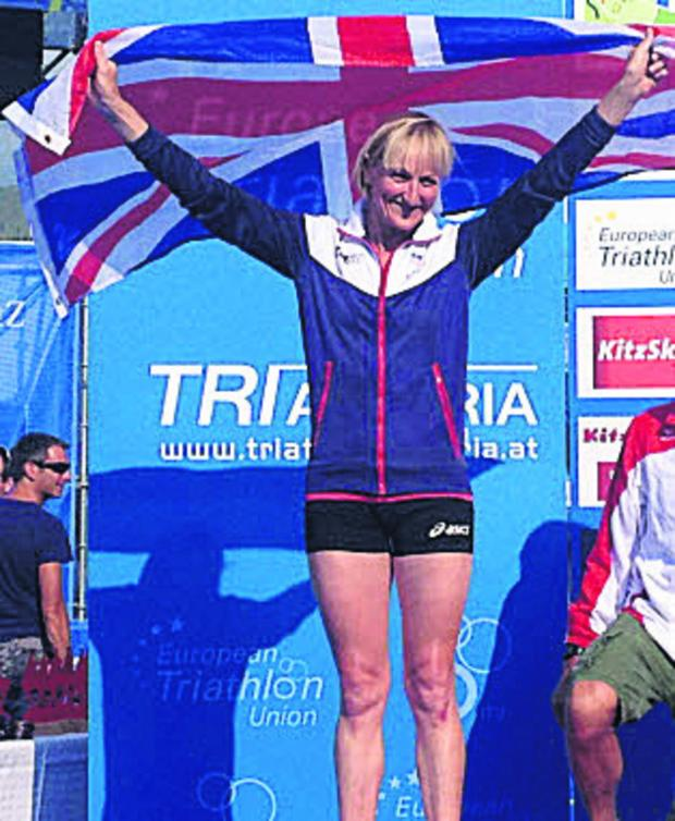 Wiltshire Times: Jane Hansom picked up a silver medal at last weekend's European Triathlon Championships in Austria