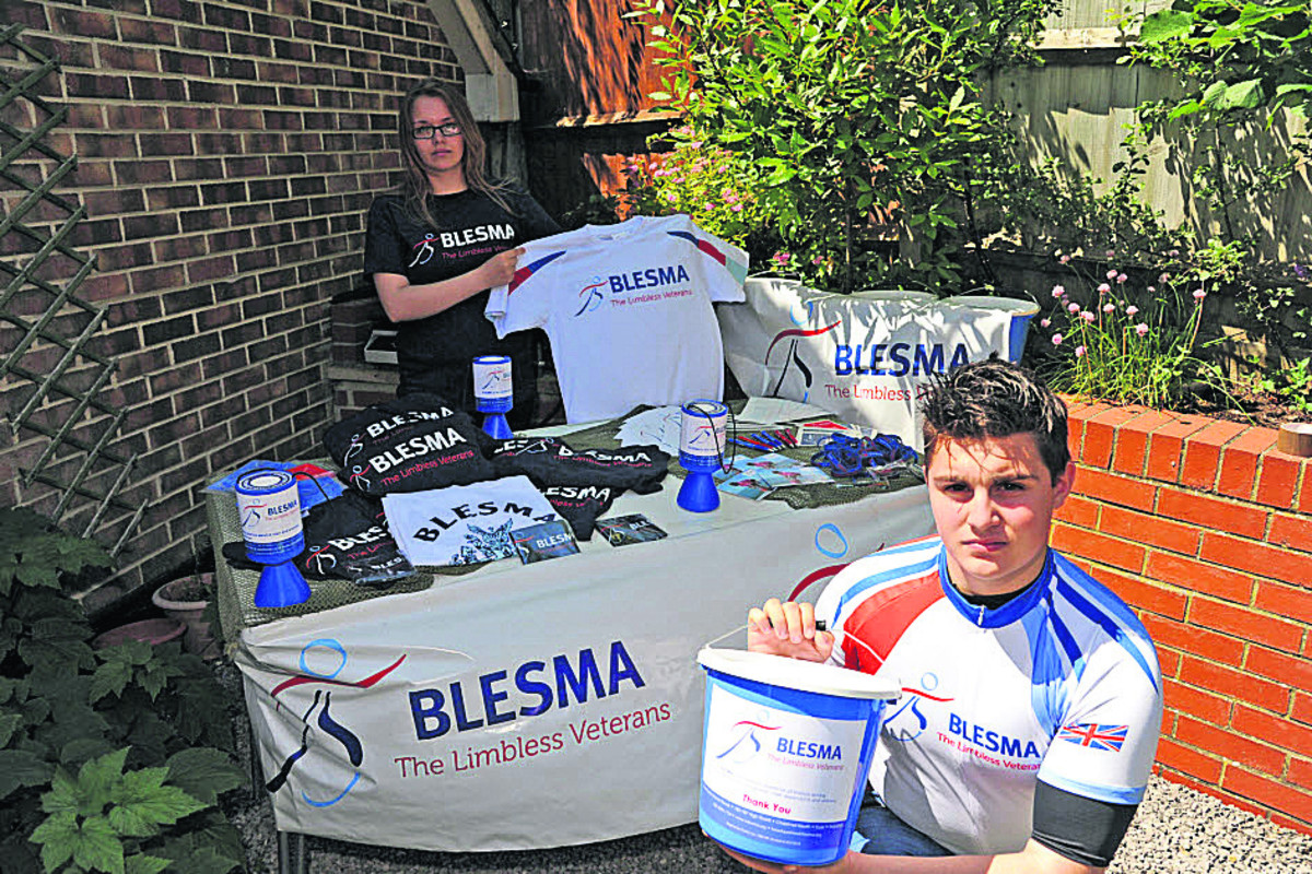 John Phillips and Poppy Foss will be setting up a stall for BLESMA, the charity which has helped his father Andy