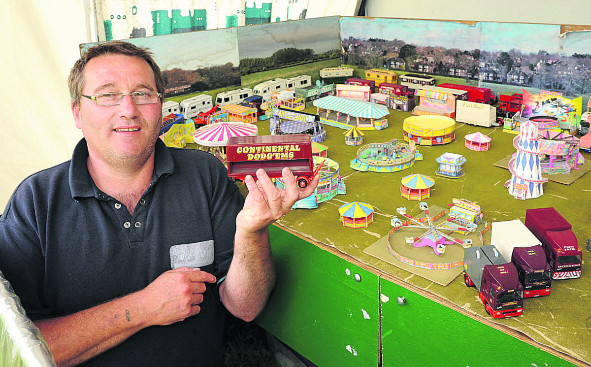 Phil Burgess with his funfair collection