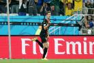 Jan Vertonghen celebrates his winner for Belgium. Picture: Action Images