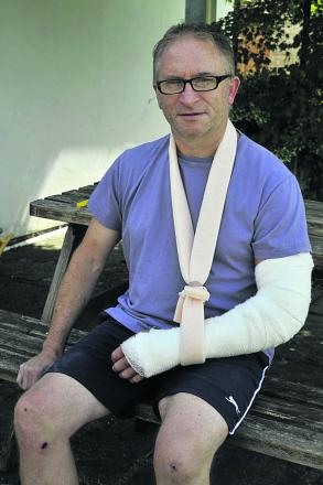 Gordon Sullivan recovers at home in Trowbridge after an accident in Westbury
