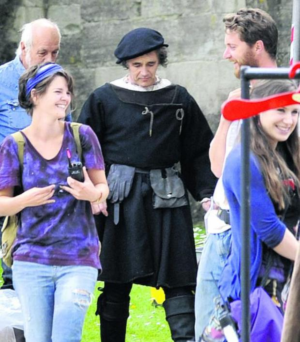 Wiltshire Times: Mark Rylance plays Thomas Cromwell in the BBC production of Wolf Hall, part of which is being filmed in Bradford on Avon. Picture by Glenn Phillips