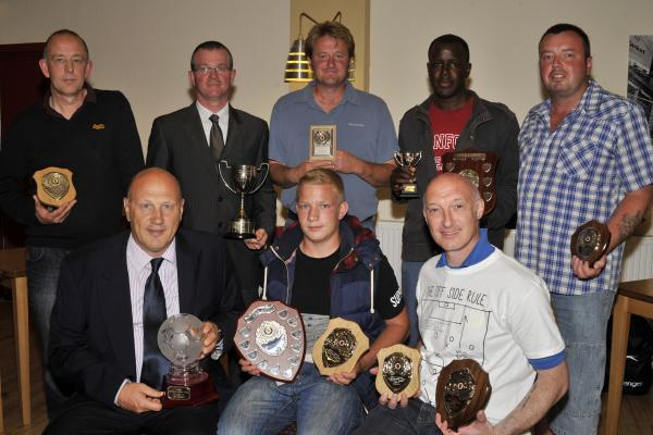 Award winners at the Trowbridge & District Presentation evening