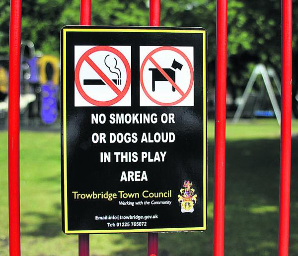 Red faces at Trowbridge Town Council over errors on play area signs
