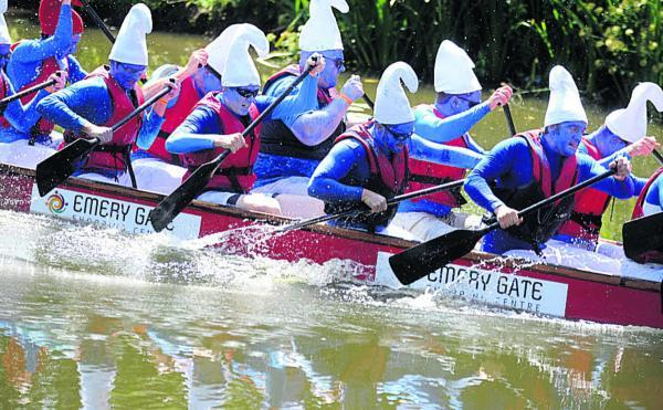 Team North give their all in last year's dragon boat races in Monkton Park, Chippenham