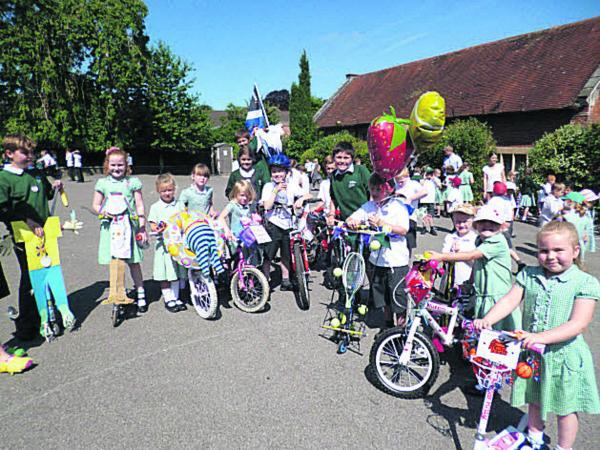 Warminster pupils sport bling on modes of transport