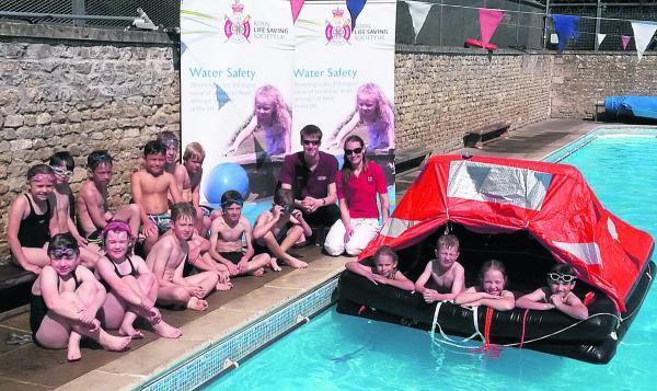 Wiltshire Times: Through fun learning the pupils also found out about more serious situations by enacting a raft rescue
