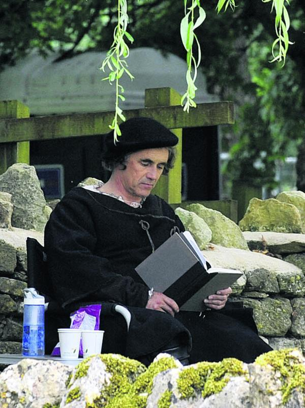 Wiltshire Times: Mark Rylance as Thomas Cromwell in the BBC production of Wolf Hall, part of which is being filmed in Bradford on Avon. Picture by Glenn Phillips