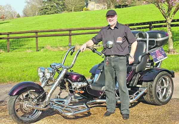 Stewart Mackay with his Razorcat trike. Picture by Trevor Porter