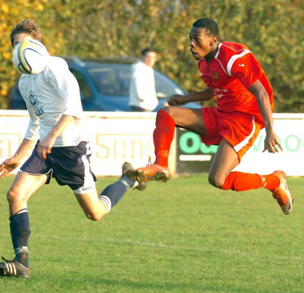 Chippenham Town new-boy Omar Simpson, pictured playing for Corsham Town in 2011