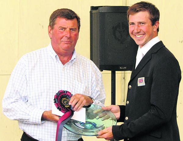 Wiltshire Times: CIC** section winner Doel (right) with the Barbury Estate's Nigel Bunter