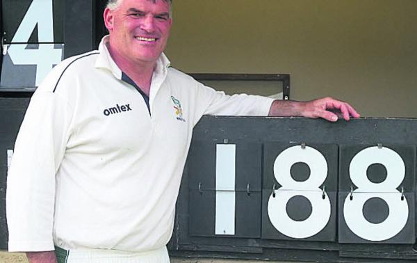 Ted O'Leary, scored 188 not out for Winsley 2nd in their win over Great Bedwyn 2nd