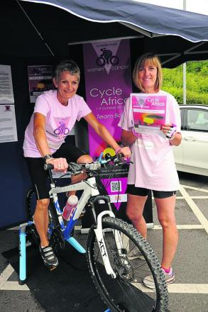 Lesley Lay and Sonya Stephens plan to cycle across Tanzania for their Woman v Cancer challenge