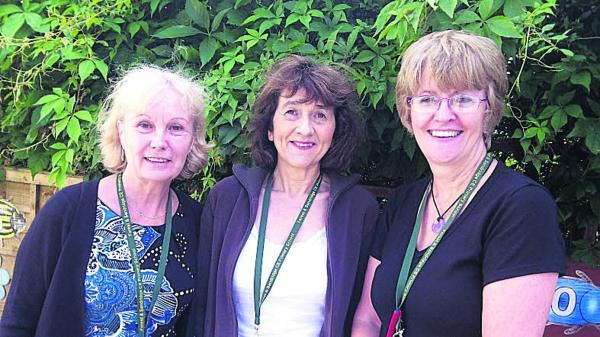Carol Fountain, left,  Anthea Courage and Sue Parselle