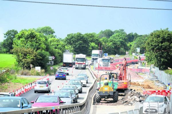 Dual carriageway work under way on the A350 into Chippenham. Now it will stretch right round to the McDonald's roundabout
