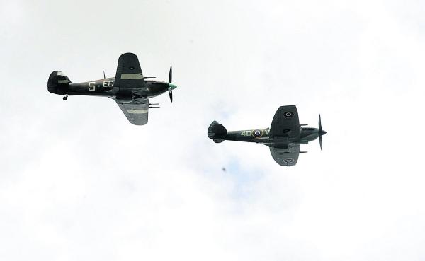Flypast tops off double festival in Corsham